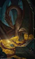 THE HOBBIT Smaug and Bilbo