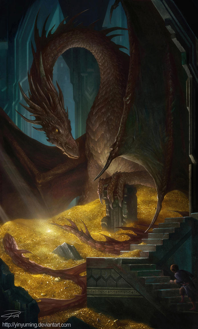 THE HOBBIT Smaug and Bilbo by yinyuming
