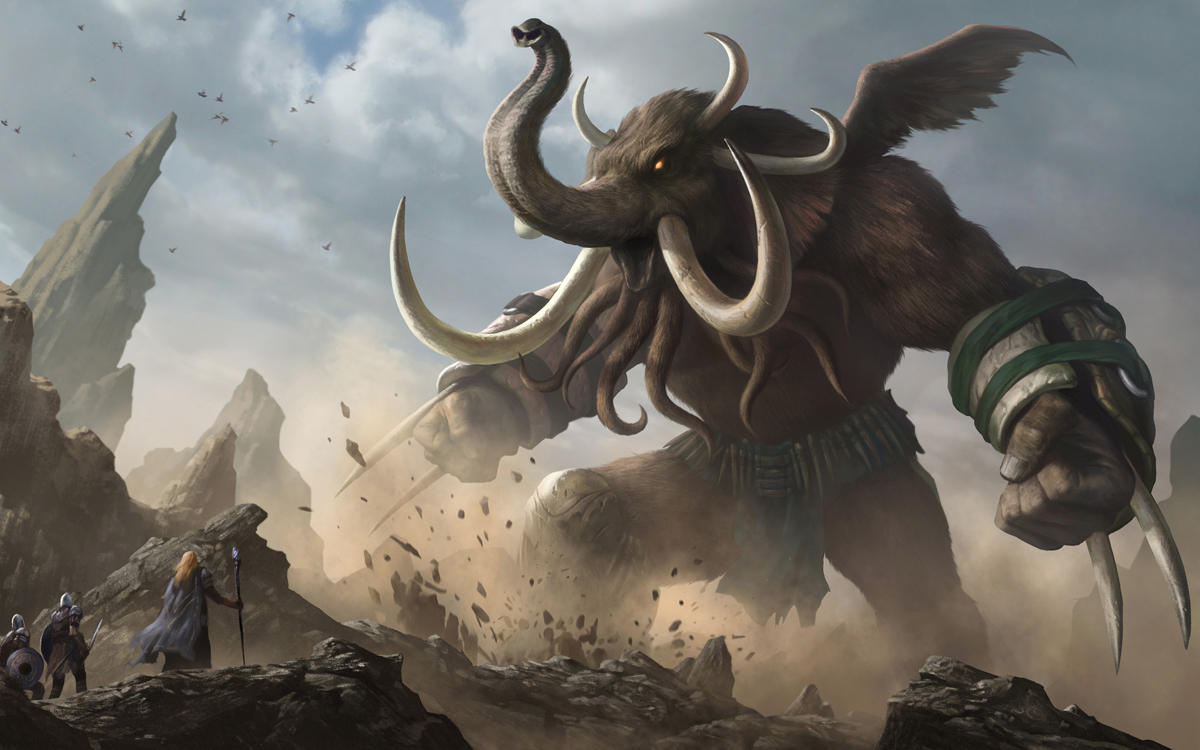 Galeria de Arte: Ficção & Fantasia 1 - Página 3 Heroes_of_newerth_woolly_cthulhuphant_by_yinyuming-d77y1st