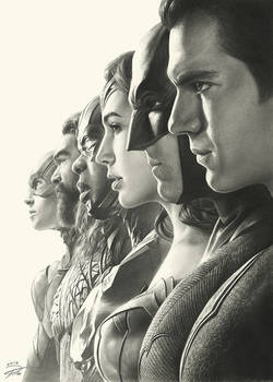 Justice League Pencil Art