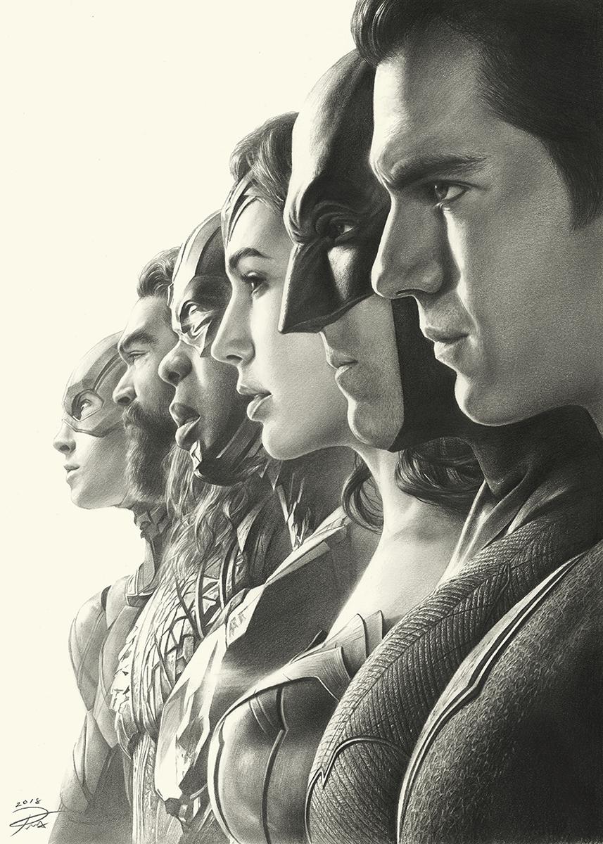 Justice League Pencil Art