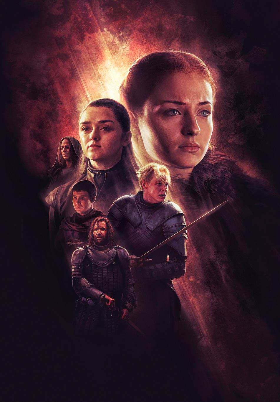 Game Of Thrones Calendar2019 illustrations (6/12)