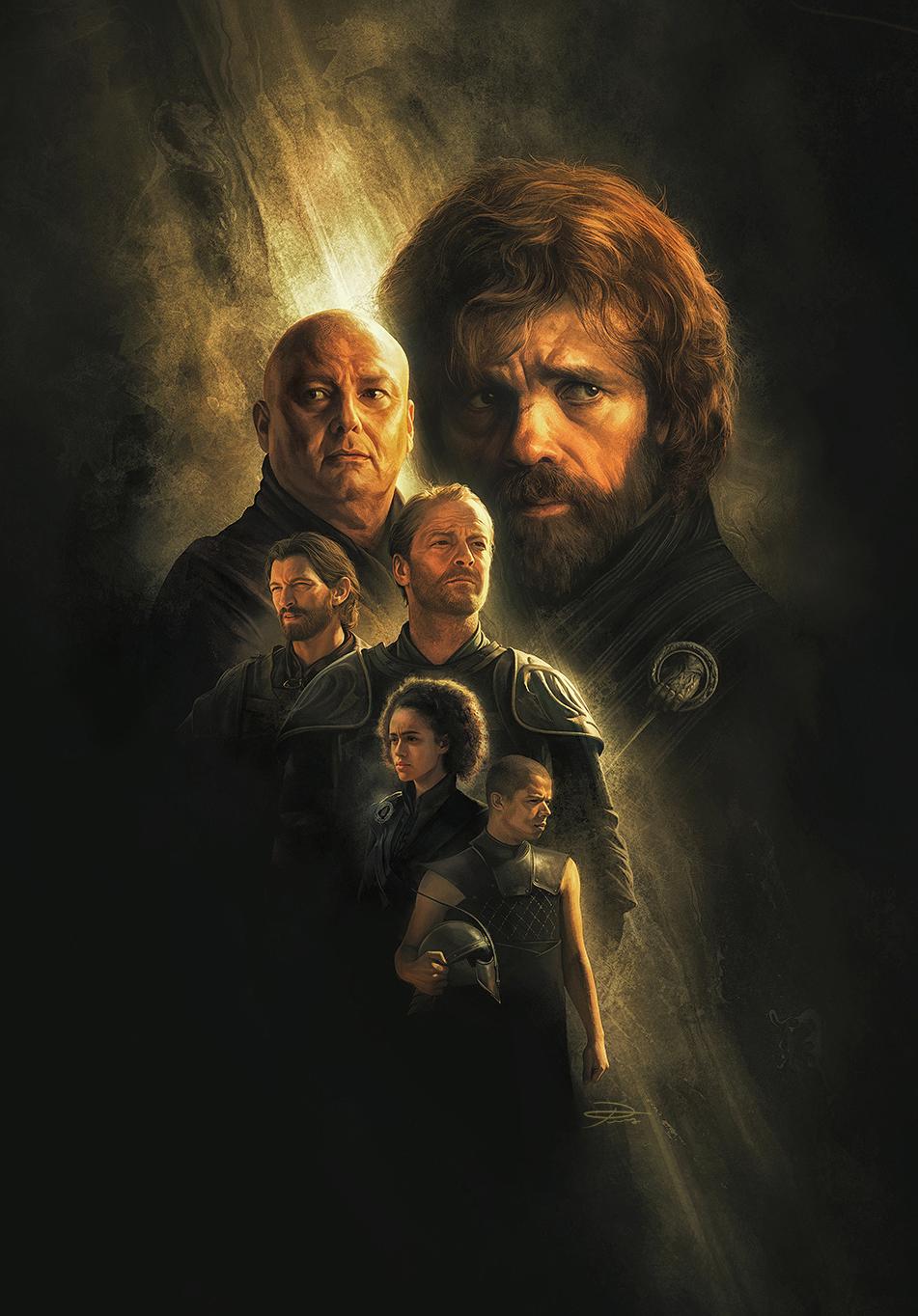 Game Of Thrones Calendar2019 illustrations (8/12)