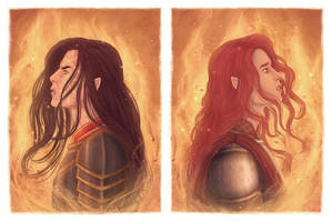 Feanor and Maedhros by rowanbaines