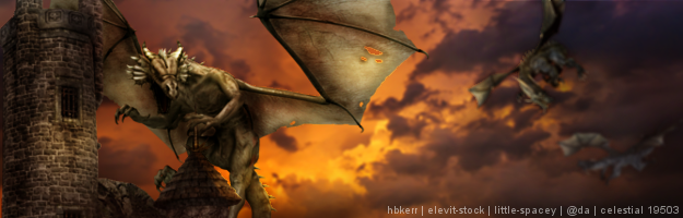 Elric Dragons cave banner