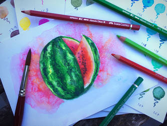 Watermelon watercolour by chiplegal