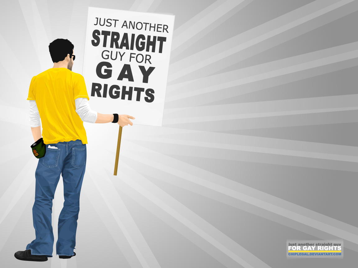 Straight guy for gay rights by chiplegal