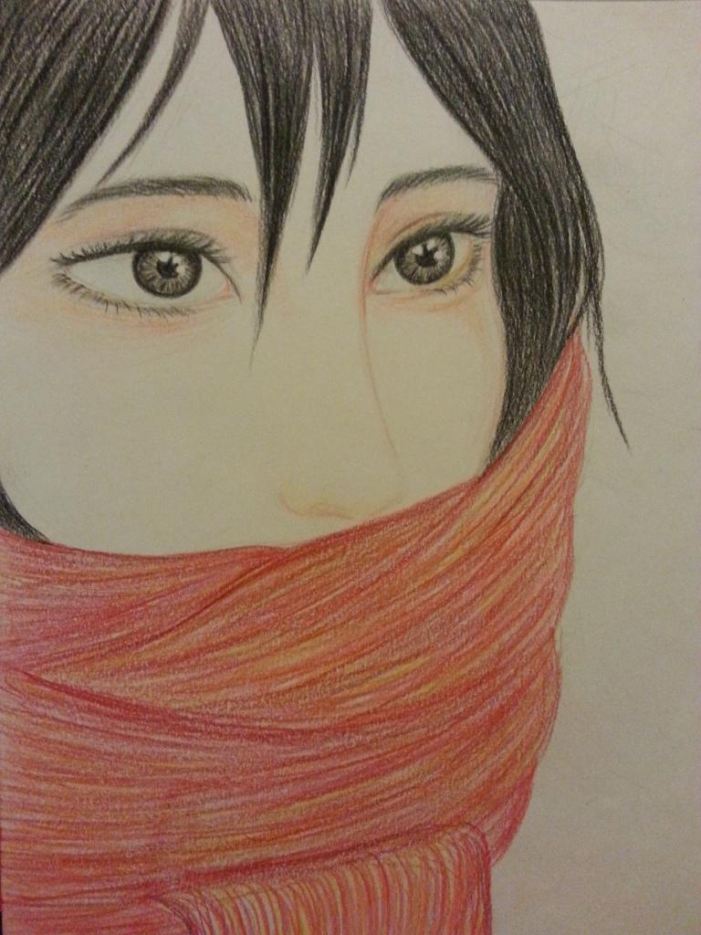 Mikasa Ackerman from Shingeki, winter tune by Tovika