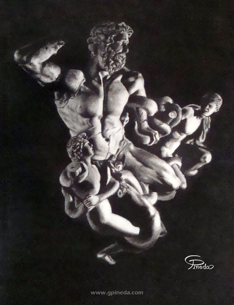 Laocoon and his sons sketch by Khadmo on deviantART