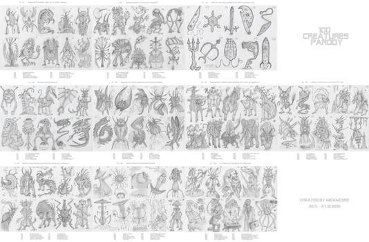 100 creatures parody - 1-10