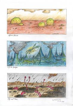 Life on Mars, Europa and Titan