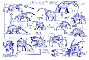 Radiation of Pentapods
