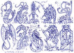 X-tinct mythical creatures by MickMcDee