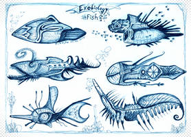 Alien fish by MickMcDee