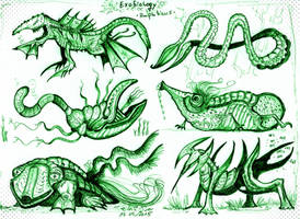 Alien amphibians by MickMcDee