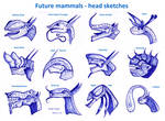 Future mammals - head sketches
