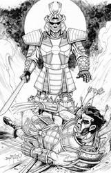 Silver Samurai vs. Logan