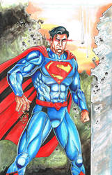 New 52 Superman, Painted