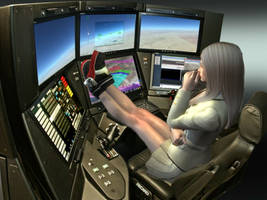 Kara at the Time Cylinder controls