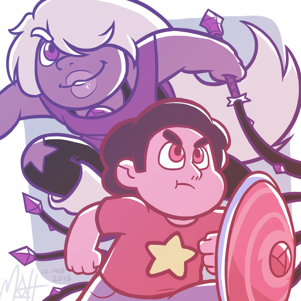 Steven and Amethyst by colourmefred