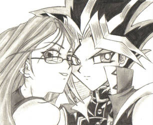 Shadowedpillar and Yami Yugi by CupidYamiVolta