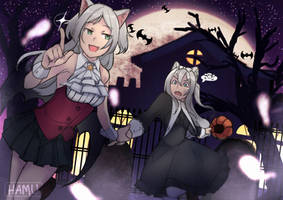 Sims and Hammann on a Spoopy Adventure