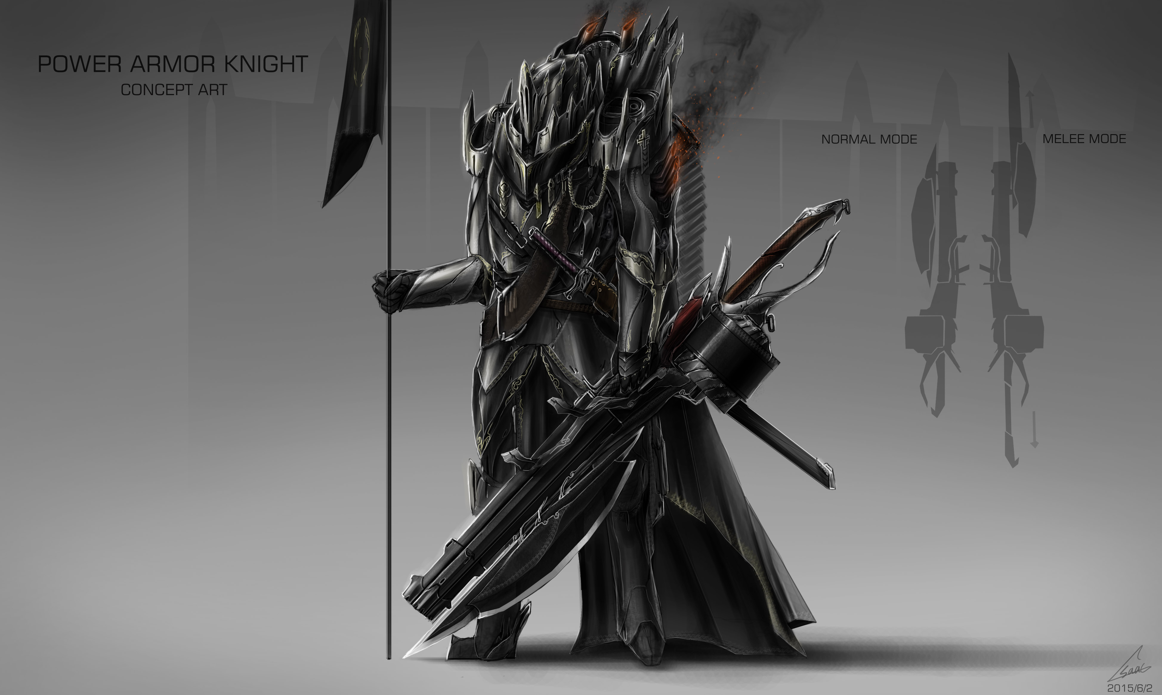 Fantasy KNIGHT DESIGN / concept art by nobody00000000 on ...