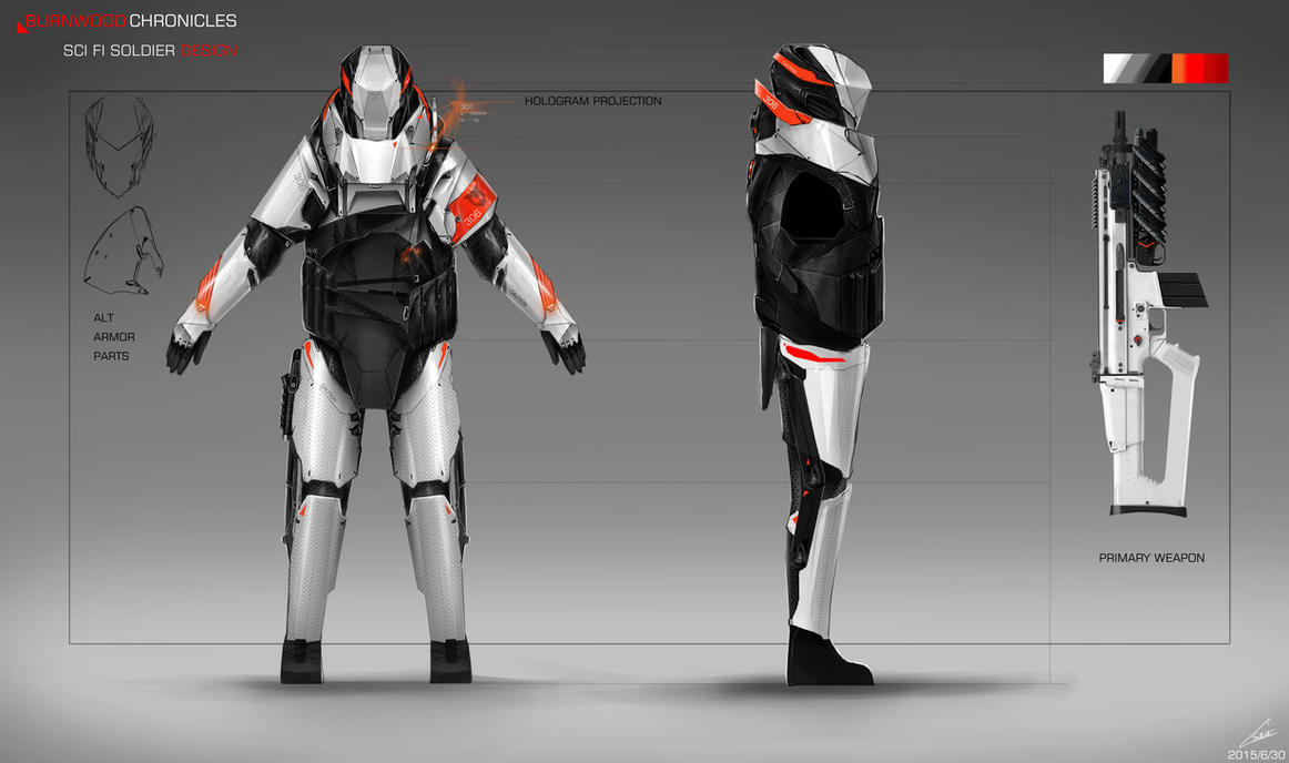 SCI FI SOLDIER DESIGN/CONCEPT ART 03 by nobody00000000 on