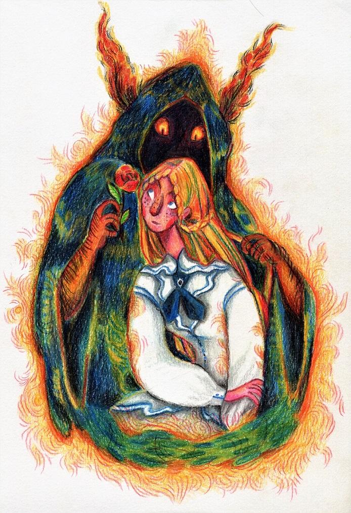 Monster and Rose by Harumirun