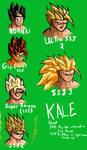 Kale's Saiyan levels so far