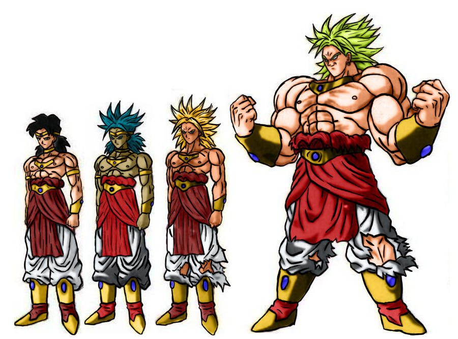 Broly's forms v.1 by sergiopavao on DeviantArt