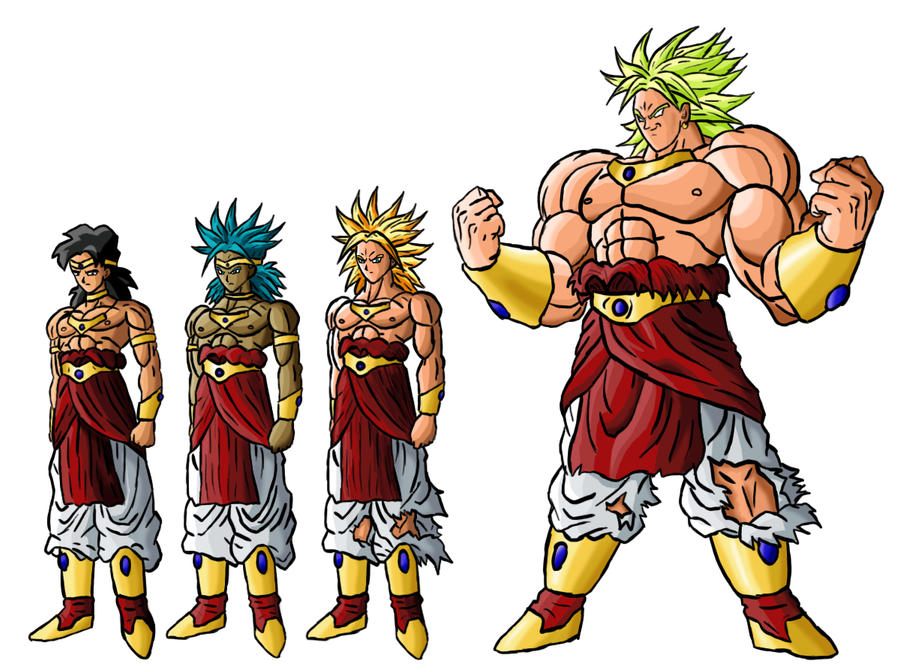Broly Transformations by sergiopavao on DeviantArt