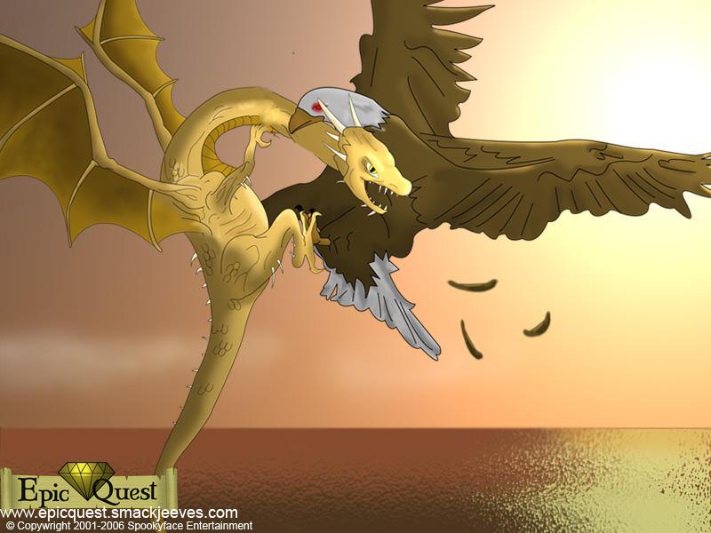 Eagle Vs Dragon Drawing Gold Dragon vs Ol'Otar...