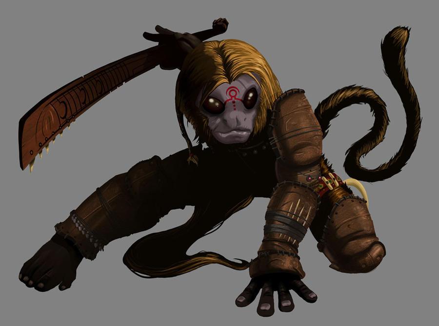 Deviantart Lion Warrior: Lion Monkey Warrior By AdamsPinto On DeviantArt