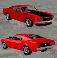 1969 Ford Mustang BOSS 429 by redbaron7