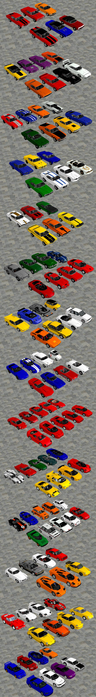 Classic Muscle and Sports Cars Pack