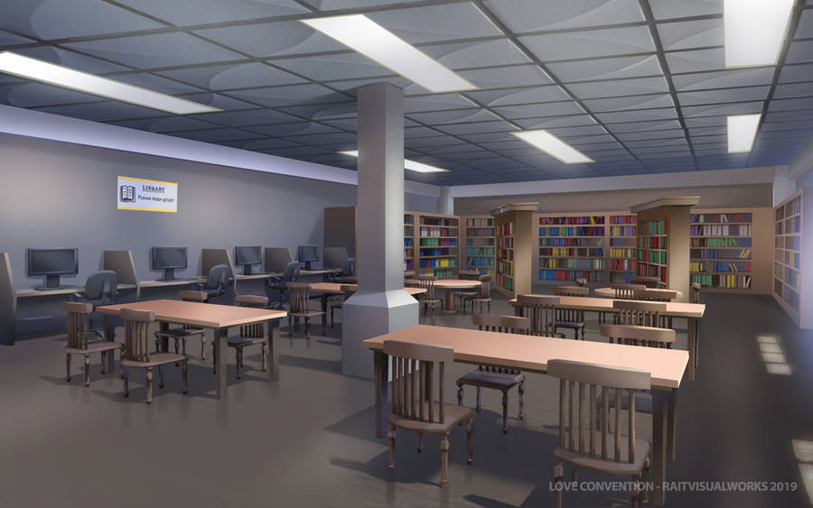 Love Convention - School [ Library ] by RaitVisualWorks