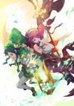 Rosaria and Venti Genshin Impact Fanart