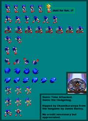 Sonic: Time Attacked - SonicSprite by Okamikurainya