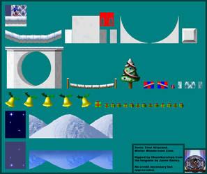 Sonic: Time Attacked - Winter Wonderland Zone by Okamikurainya