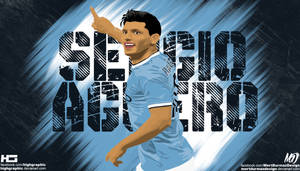 Sergio Aguero Vector Wallpaper HD