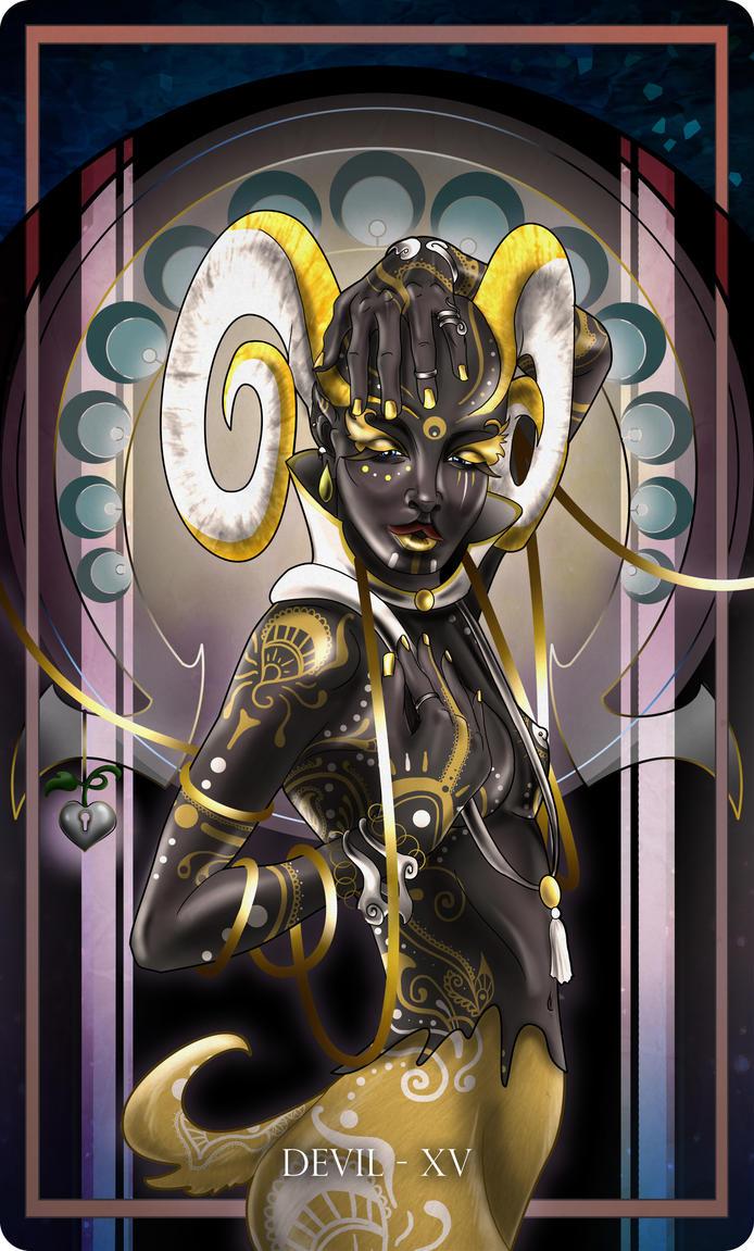 Devil tarot by Dakknay-Sade