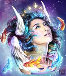 Cosmic Angel for Qinni