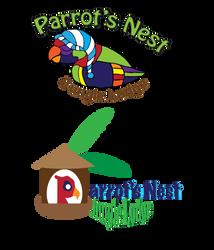 Fake Logo: Parrot's Nest Jungle Lodge by healix