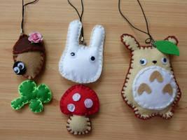 Totoro Plush set by Em-Ar-Ae