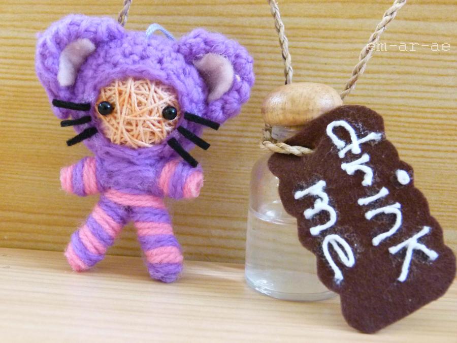 cheshire cat string doll by Em-Ar-Ae
