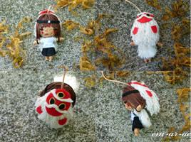 princess mononoke string doll by Em-Ar-Ae