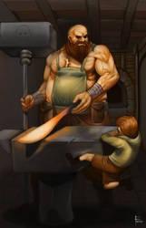 Blacksmith by Weakjounin