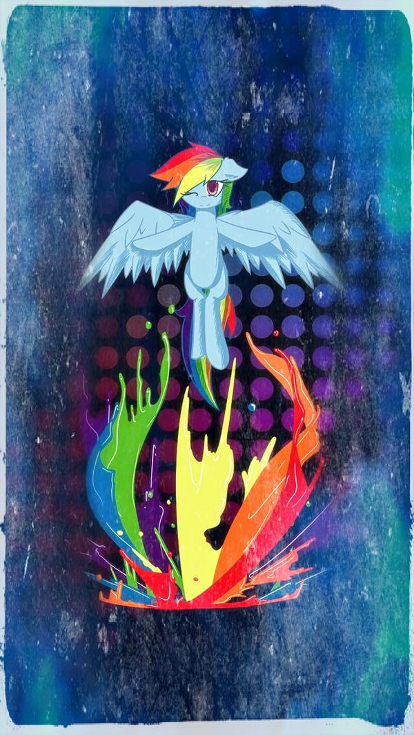 Rainbow Dash Splatter Paint Phone Wallpaper By Zacorasfollower
