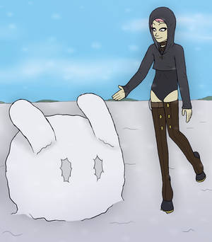 Fallcrest Event - Bunny Jelly Ice Scuplure
